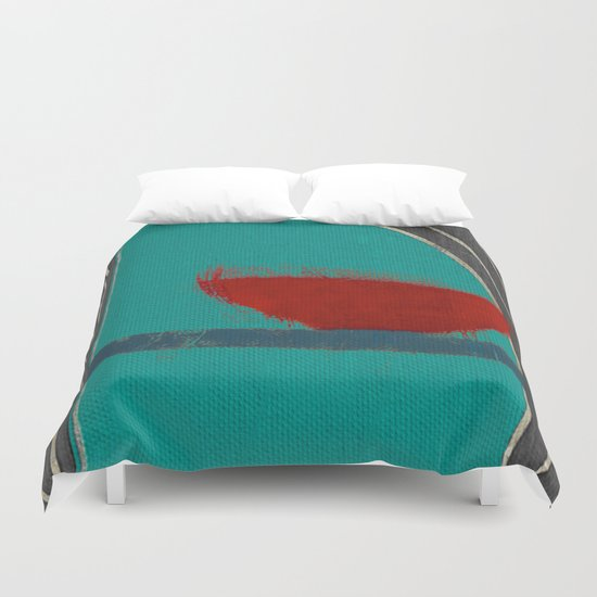 赤容器 (red pot) Duvet Cover