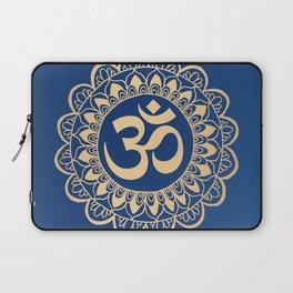 Blue and Gold Ohm Mandala Laptop Sleeve