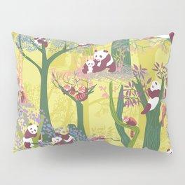 Both Species of Panda - Yellow Pillow Sham