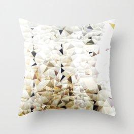 Golden Sand Throw Pillow