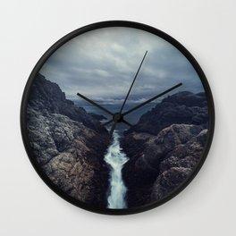 Flowing Inward Wall Clock