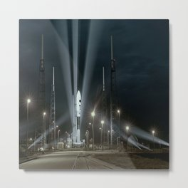 Why Do Rockets Launch At Night Metal Print