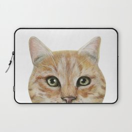 Golden British shorthair, America shorthair, cat, acrylic illustration by miart Laptop Sleeve