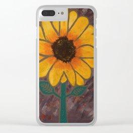 Sun Flower Reign Clear iPhone Case