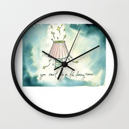 You Can't Die in the Living Room Wall Clock