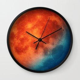 Super blue blood moon Wall Clock