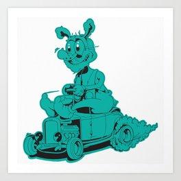 Rod Rabbit Art Print