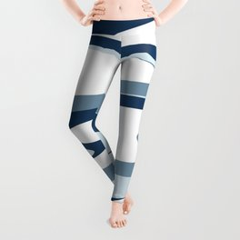 pattern blue white #pattern Leggings