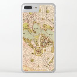 Map Of Canberra 1913 Clear iPhone Case