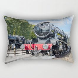 Steam locos at Rothley Rectangular Pillow