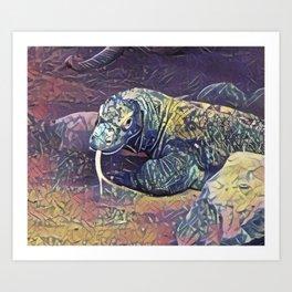 Komodo Dragon Art Print