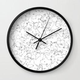 Light gray marble (1) Wall Clock