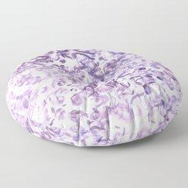 Abstract wave Purple Design Floor Pillow