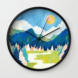 Spring River Wall Clock