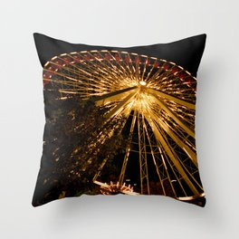 Navy Pier Ferris Wheel Throw Pillow