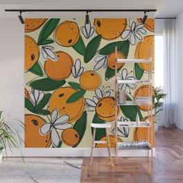 Oranges in Bloom Wall Mural