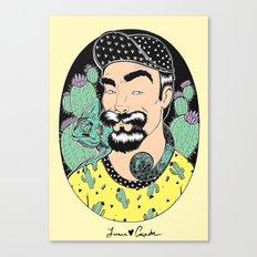 Jack, the cactus man (color version) Canvas Print
