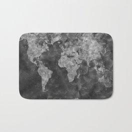 world map 55 black Bath Mat