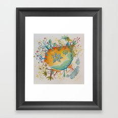the beach  planet Framed Art Print
