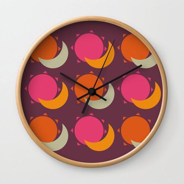 sun and moon Wall Clock