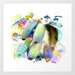 Banana Cut Art Print