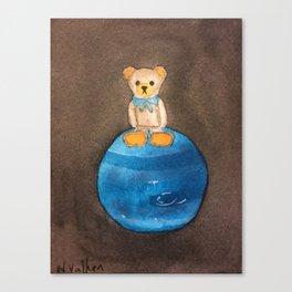 Artbear and Neptune Canvas Print