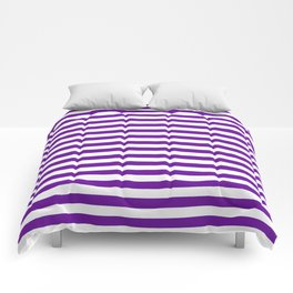Halloween Two color stripes Violet and White Comforters