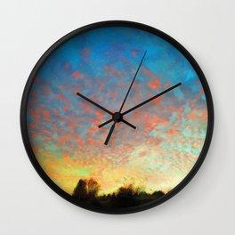 Portland Pink Sky Wall Clock