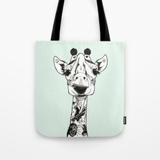 Giraffe Tattooed Tote Bag