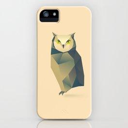 Geometric Owl - Modern Animal Art iPhone Case