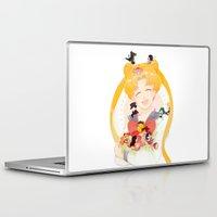 sailor moon Laptop & iPad Skins featuring Sailor Moon by cezra