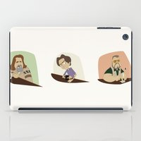 lebowski iPad Cases featuring Big Lebowski Conversation Triptych by Mutant Ninja