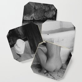 Bath in Paris, Cold Water Flat, Female Nude black and white art photography / photograph Coaster