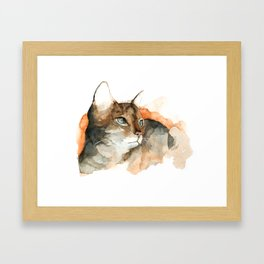 cat#10 Framed Art Print