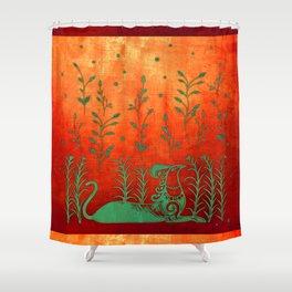 Cretan Griffin Shower Curtain