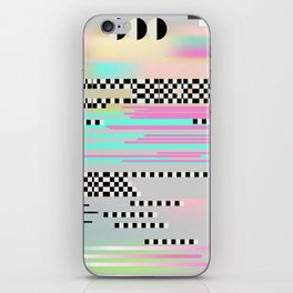 Glitch art effect iPhone Skin