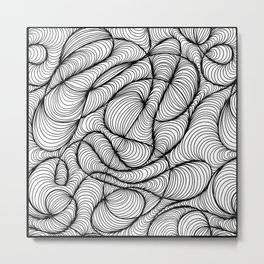 Waves Motion Metal Print
