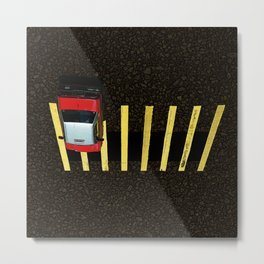 Inverted Taxi Metal Print