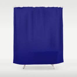 Midnight Blue Flat Color Shower Curtain