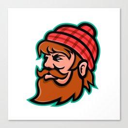 Paul Bunyan Lumberjack Mascot Canvas Print