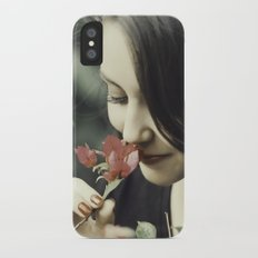 The Flower Lady Slim Case iPhone X