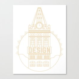 Oakland is Design (Gold) Canvas Print
