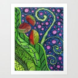 Cosmic Beanstalk Art Print