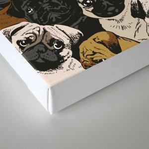 Social Pugs Canvas Print