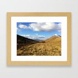 Scottish Highlands: Herdsman's Path Framed Art Print
