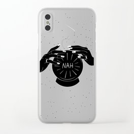 Nah future - crystal ball Clear iPhone Case