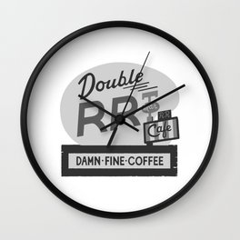 Double R Diner Wall Clock