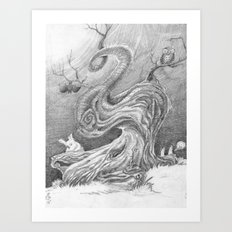 Magic Tree Night Art Print