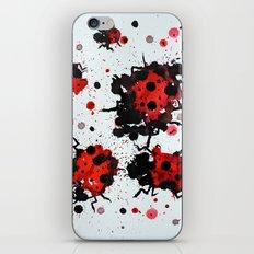 Splattered bugs iPhone & iPod Skin