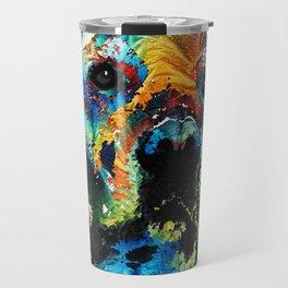 Colorful Dog Art - Heart And Soul - By Sharon Cummings Travel Mug